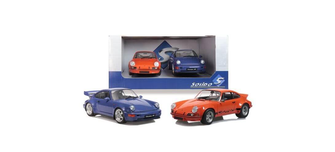 PACK 911 RSR ORANGE + 964 RS BLEU MARITIME | CARSNGO.FR