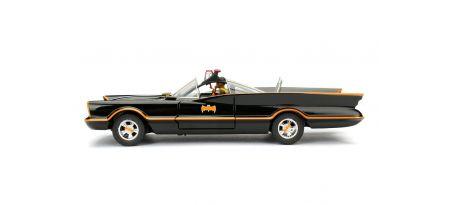 1966 CLASSIC BATMOBILE W/BATMAN/ROBIN FIGURINE   CARSNGO.FR