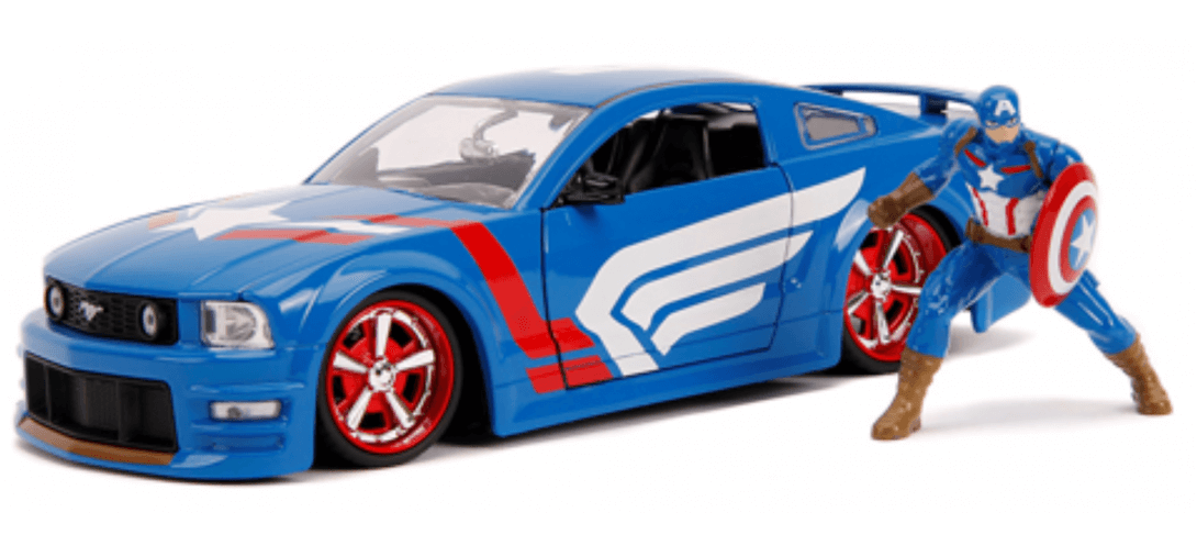 2006 MUSTANG W/CPT AMERICA FIGURINE   CARSNGO.FR