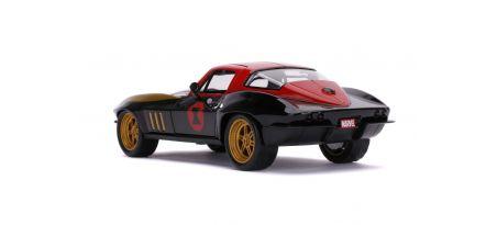 1966 CHEVY CORVETTE W/BLACK WIDOW FIGURINE   CARSNGO.FR